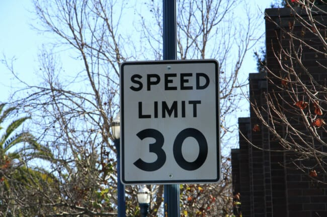 Speed limits california and speed laws