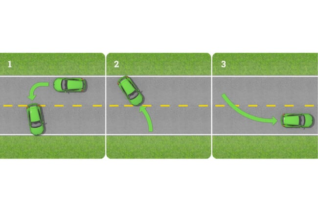 How to Do Three Point Turn in 4 Steps