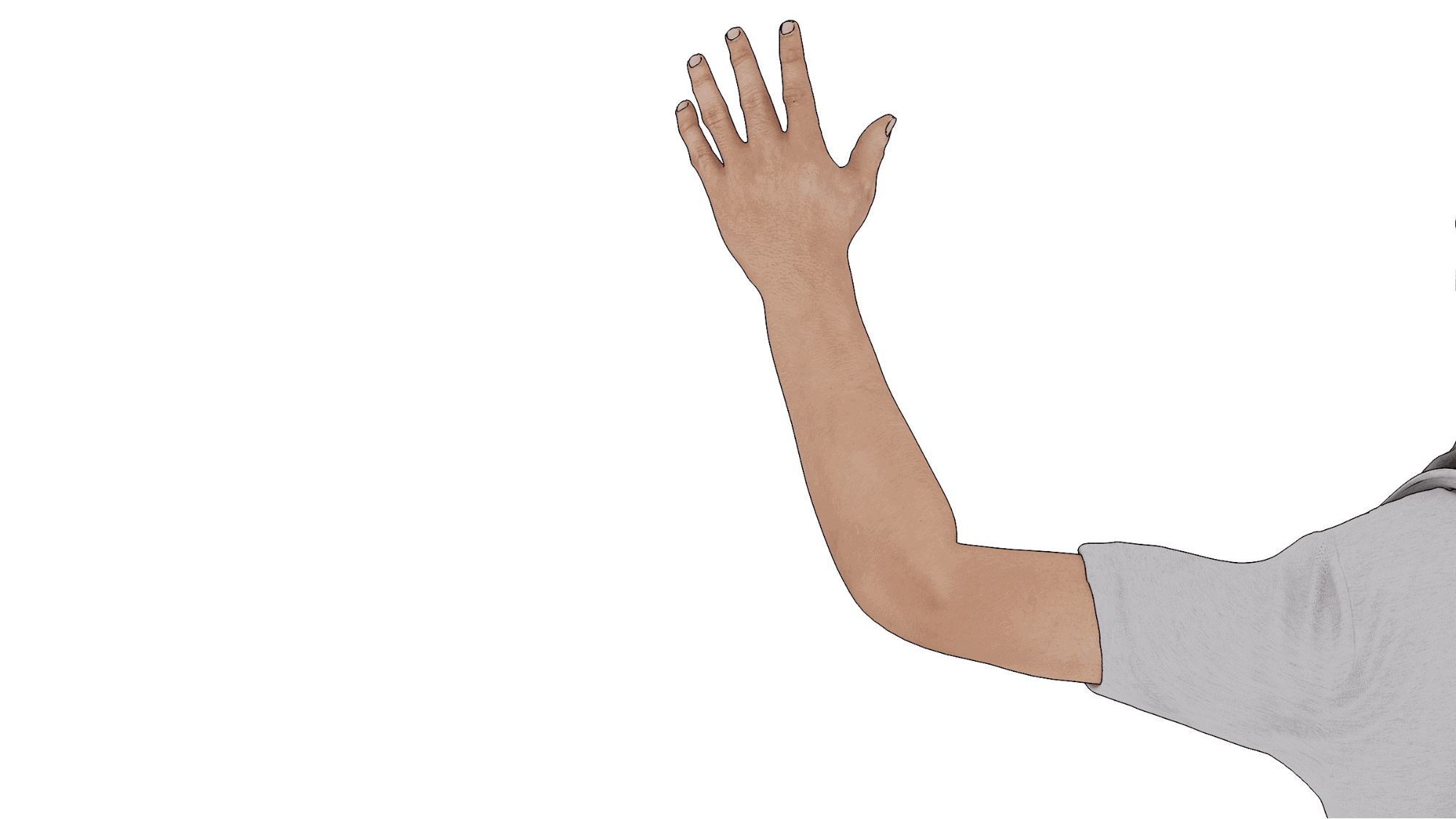 driver using hand signal to turn right