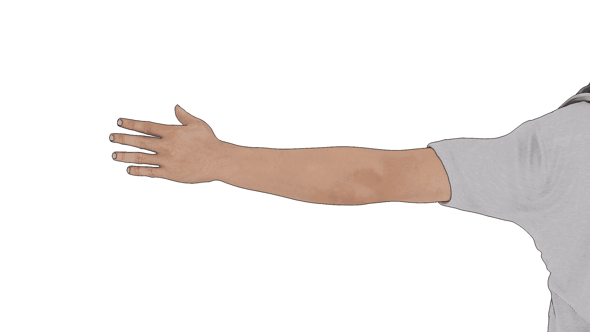 driver using hand signal to turn left