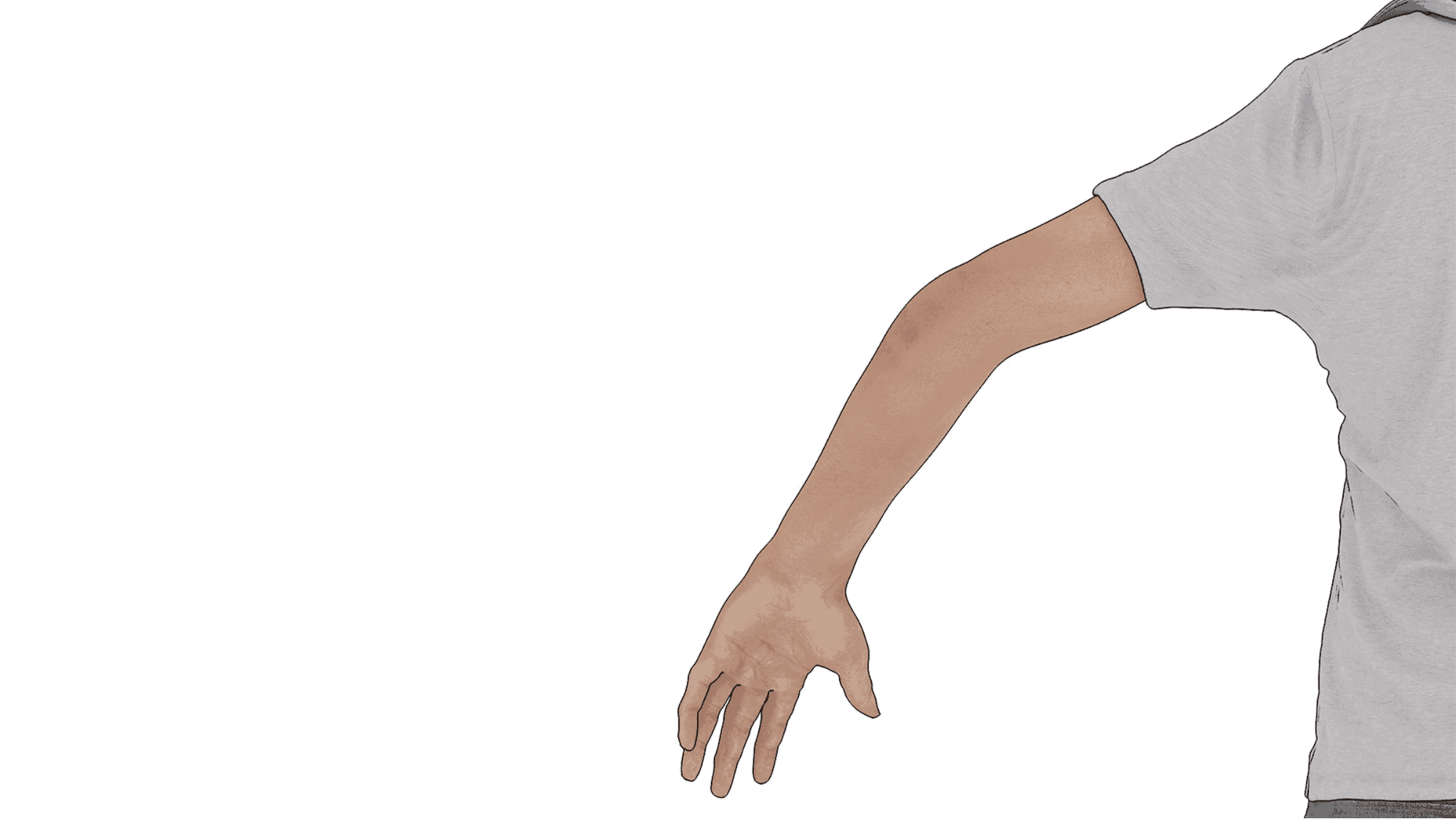 driver using hand signal to slow down or stop