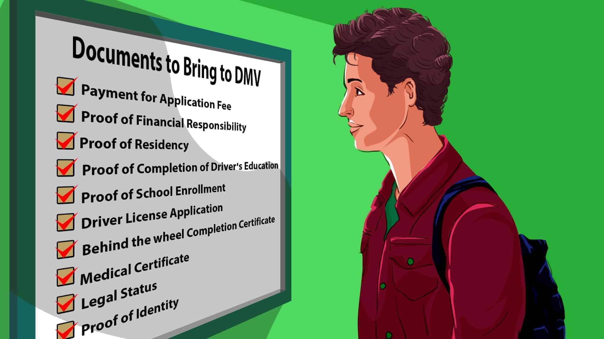 What documents to bring to DMV