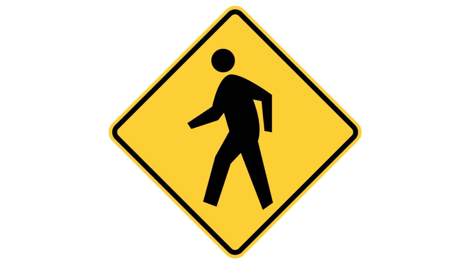 Warning sign Pedestrian Crossing