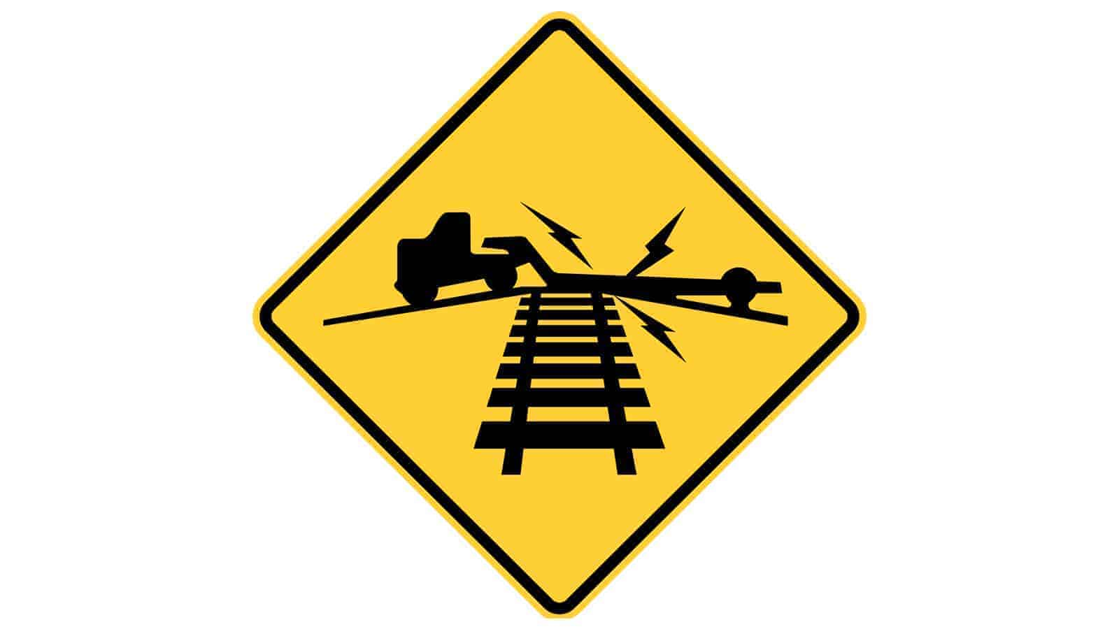 Warning sign Low Ground Clearance Railroad Crossing