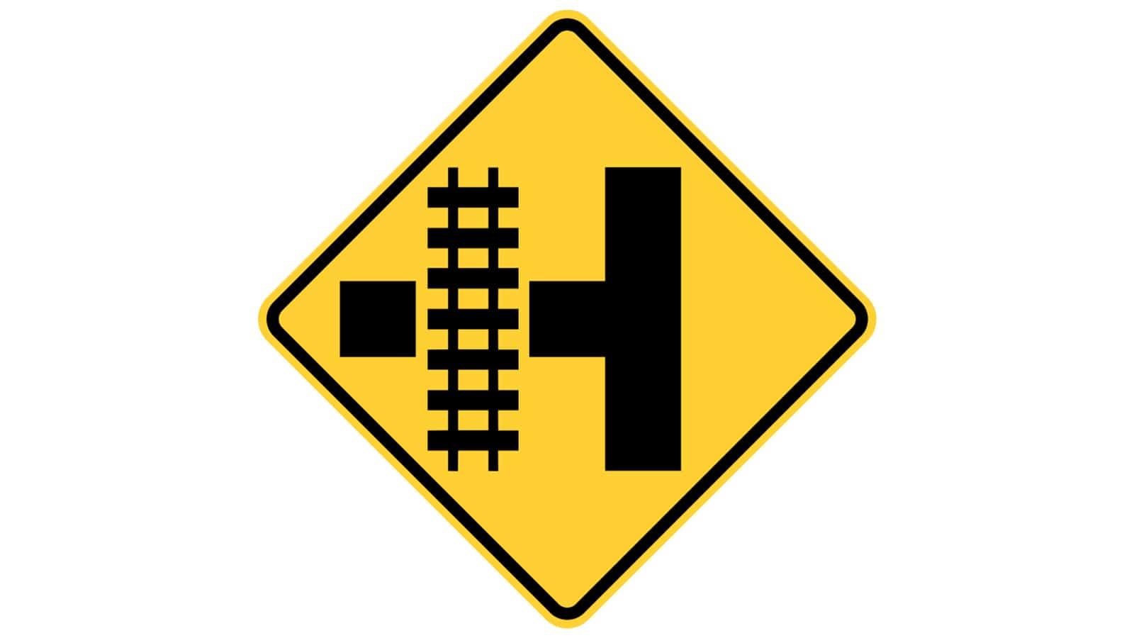 Warning sign Railroad Intersection Warning