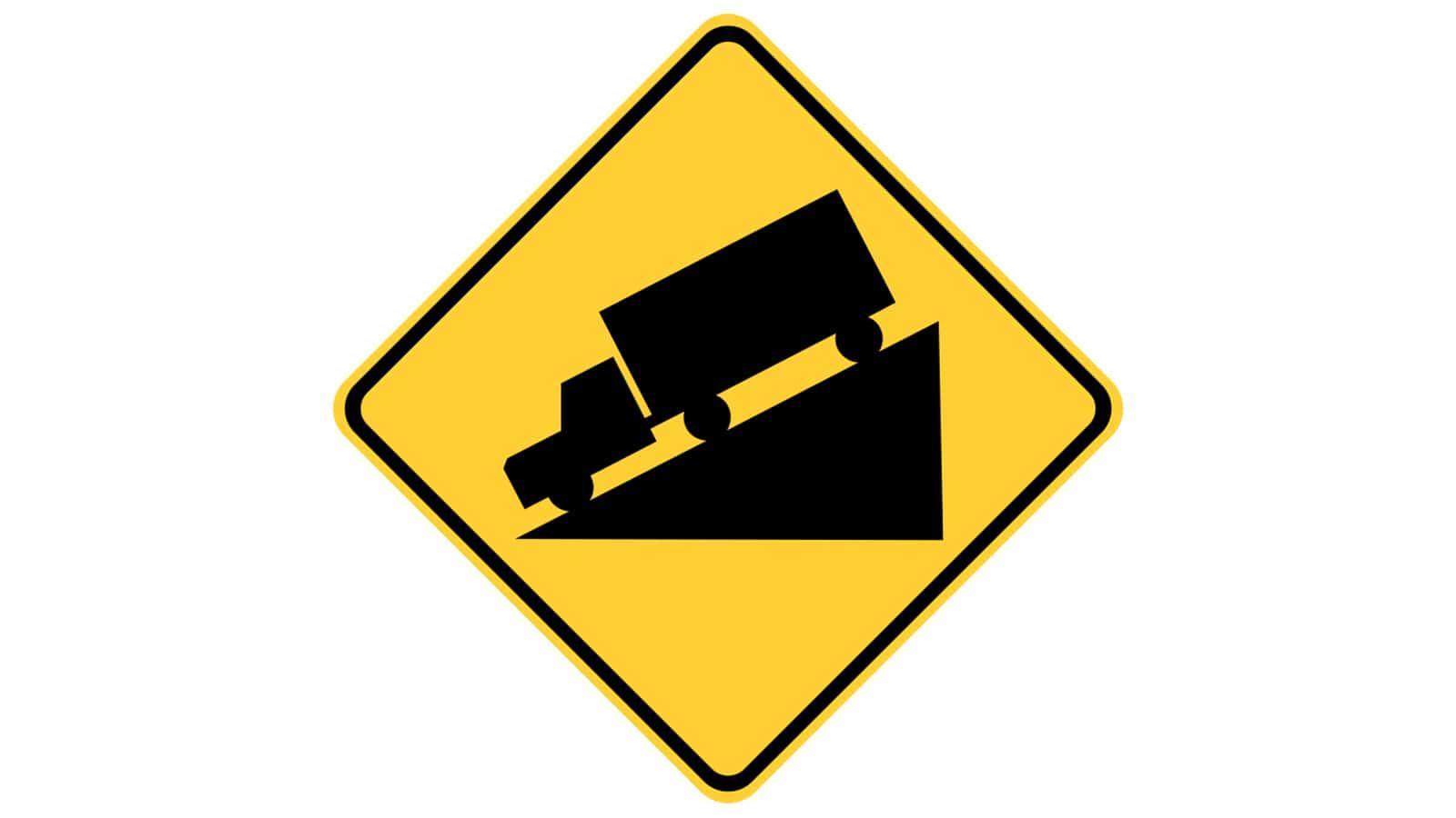 Warning sign Steep Grade/Hill