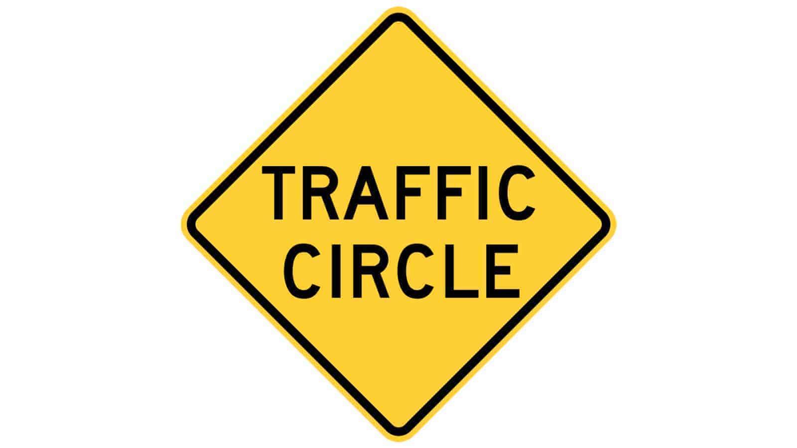 Warning sign Circular Intersection Warning (Roundabout)