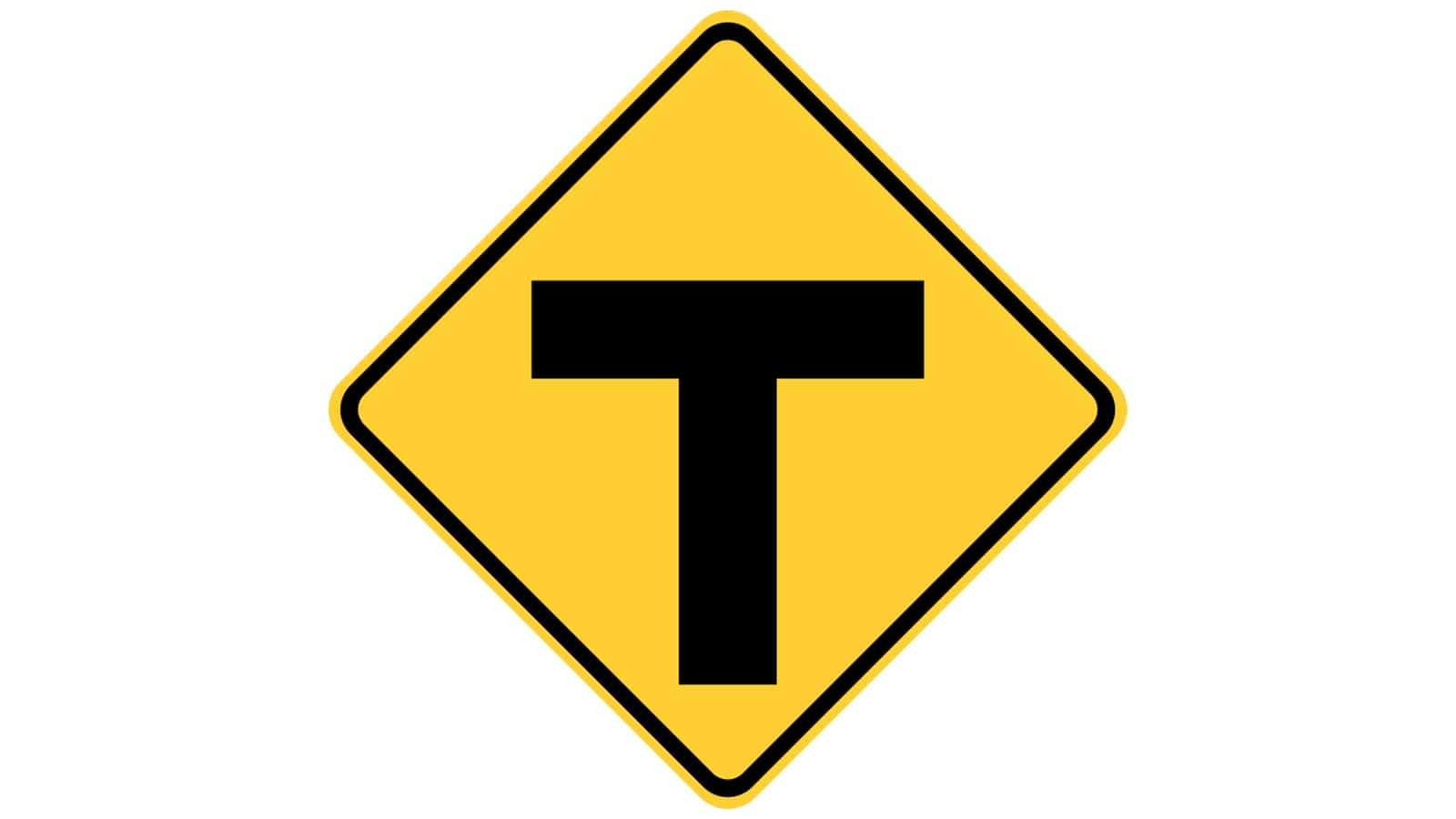 Warning sign T-Roads