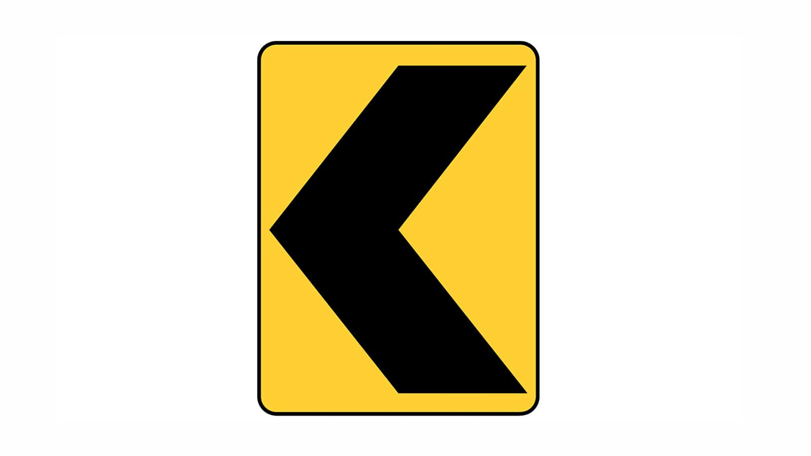 Warning sign Chevron Alignment (Left)