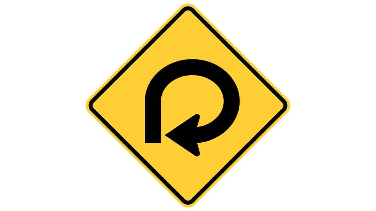 Warning sign 270-Degree Loop
