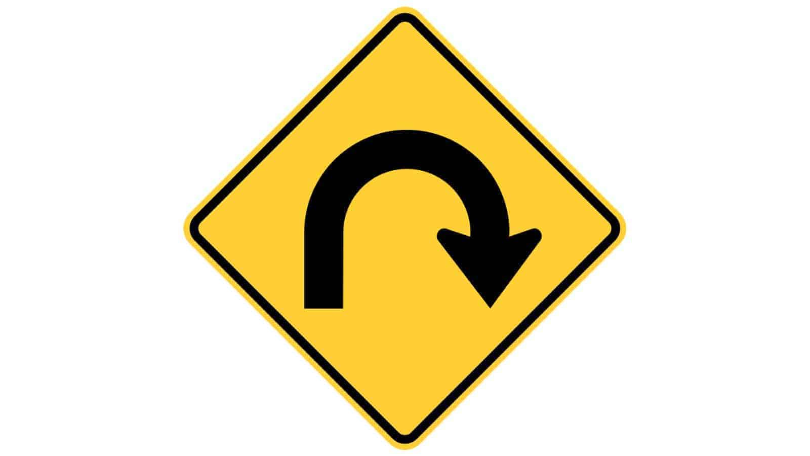 Warning sign Hairpin Curve