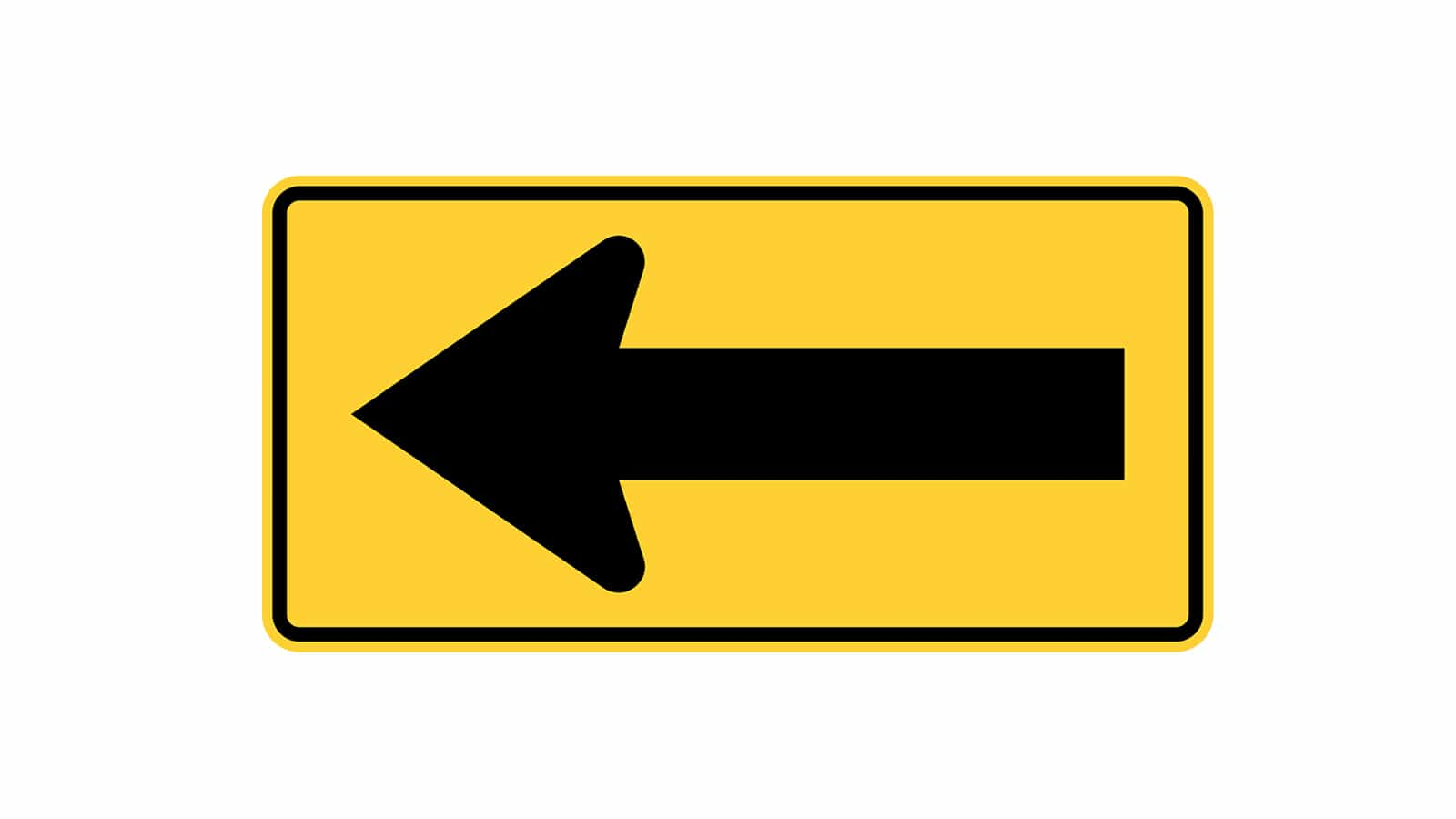 One Direction Arrow To the Left