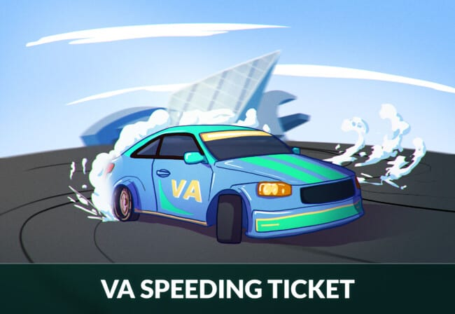 Virginia speeding ticket