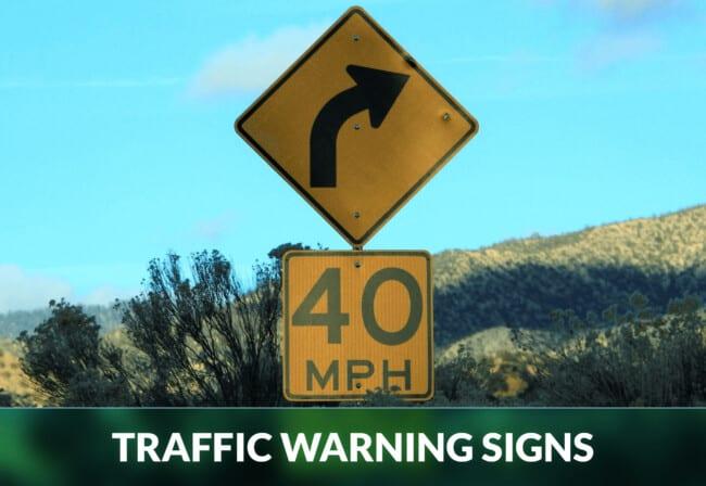 TRAFFIC WARNING SIGNS
