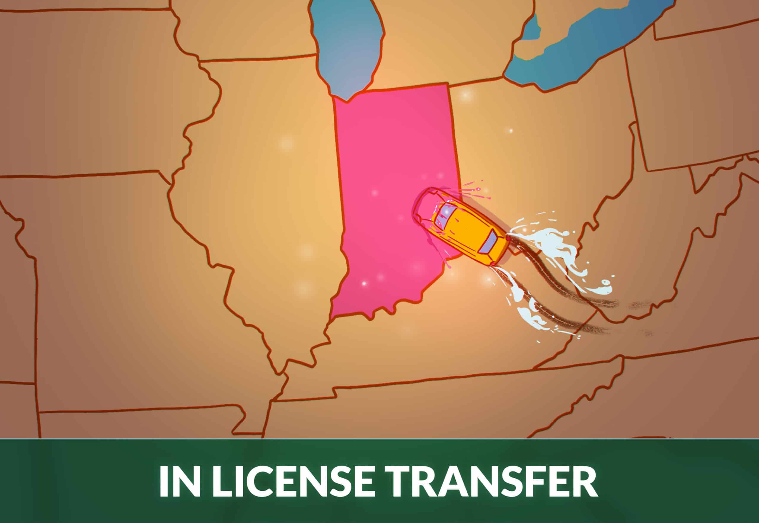 transfer drivers license to Indiana