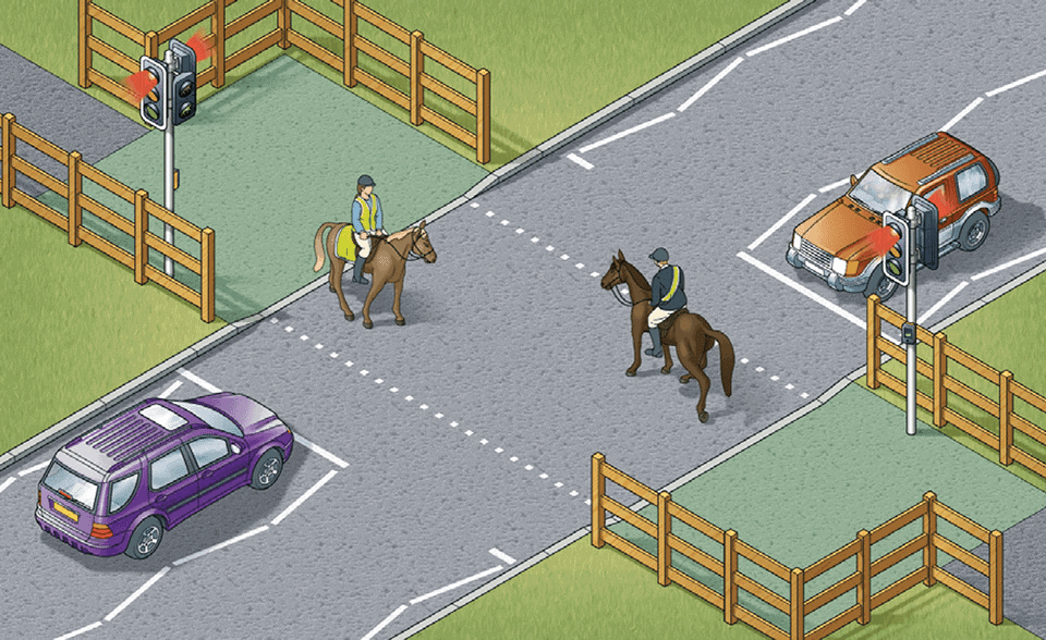 EQUESTRIAN CROSSINGS IN USE BY HORSES