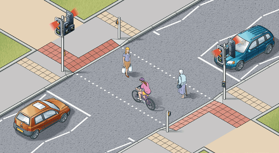 TOUCAN CROSSINGS ARE ALSO USED BY CYCLISTS AND PEDESTRIANS