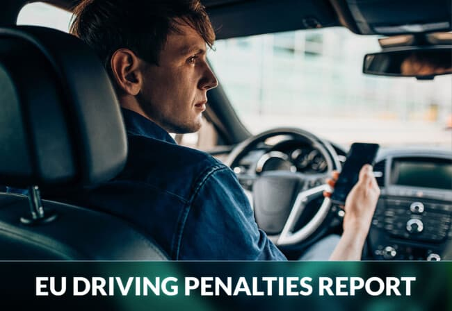 Which European country has the strictest driving penalties?
